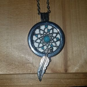 Essential oil dream catcher necklace